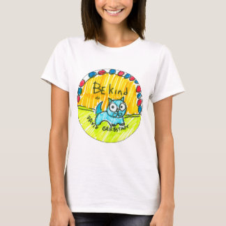 Be kind blue cat T-Shirt