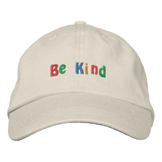 Be Kind Embroidered Baseball Hat