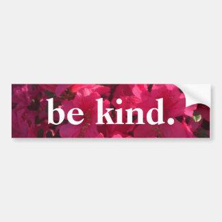 be kind - floral bumpersticker bumper sticker