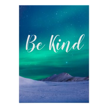 Art Themed Be kind, inspirational poster