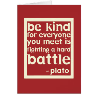 Be Kind Inspirational Words Note Card