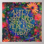 """Be Kind"" Inspirivity Poster"