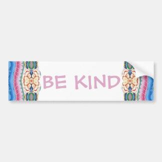 Be Kind Mandala Design Bumper Sticker