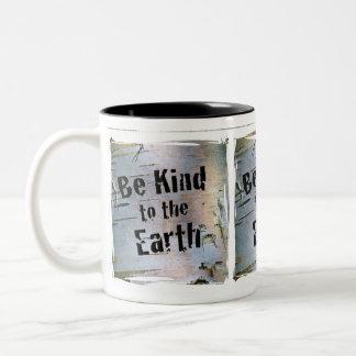 Be Kind ot the Earth Two-Tone Coffee Mug