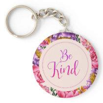 Be Kind Pink Peony Key Chain