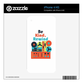 Be Kind Rewind Decals For The iPhone 4S