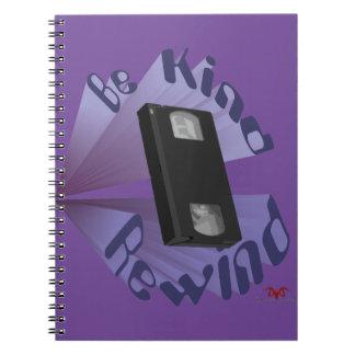 Be Kind Rewind Ver. 4 Spiral Notebook