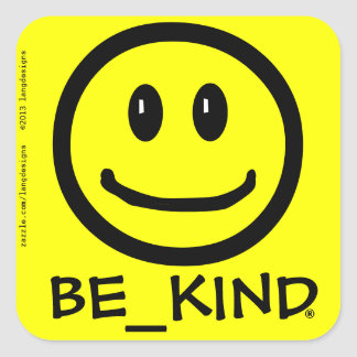 BE_KIND Square sticker