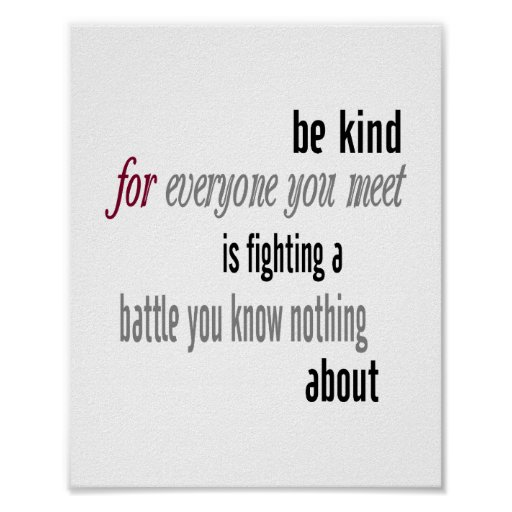 be kind standard picture frame size poster zazzle