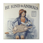 Be Kind To Animals ceramic tile