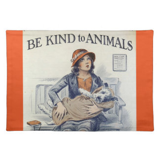 Be Kind To Animals cloth placemat