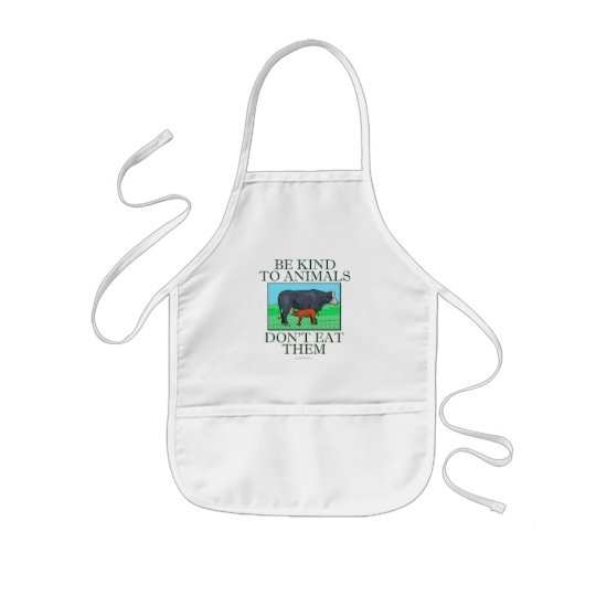 Be kind to animals. Don't eat them. (apron) Kids' Apron
