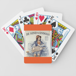 Be Kind To Animals playing cards