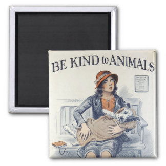 Be Kind to Animals - Vintage Poster Magnet