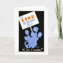 Be Kind To Books Club 1940 WPA