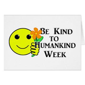 Be Kind to Humankind Week Card