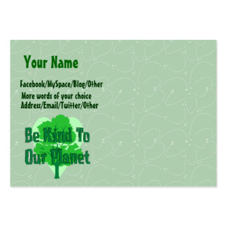 Be Kind To Our Planet Large Business Card