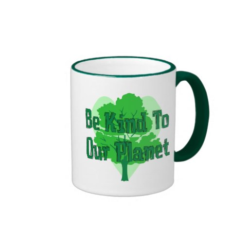 Be Kind To Our Planet Ringer Coffee Mug