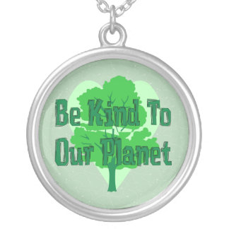 Be Kind To Our Planet Round Pendant Necklace