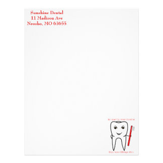Be Kind To Your Dentist Funny Letterhead