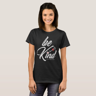 Be Kind (Watercolor Design) Caring Quote On Back T-Shirt