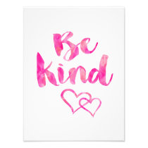 Be Kind Watercolor Inspirational Quote Motivationa Photo Print