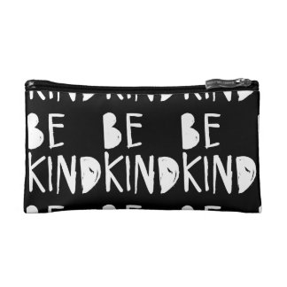 Be Kind | White Brush Script Style Cosmetic Bag