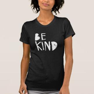 Be Kind   White Brush Script Style T-shirt