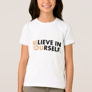 [Be]lieve In [You]rself Tee - White/Peach/Black