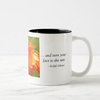 Be like a flower... Two-Tone coffee mug