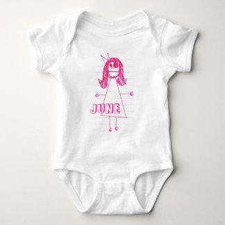 """""""Be Like June"""" Notebook Series Baby Bodysuit"""