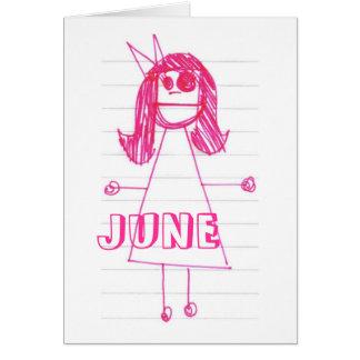 """Be Like June"" Notebook Series Card"