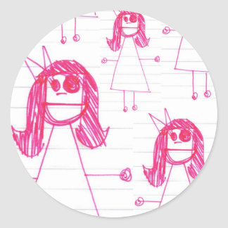 """Be Like June"" Notebook Series Classic Round Sticker"