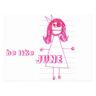 """""""Be Like June"""" Notebook Series Postcard"""