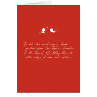 Be Like Two Sweet-Singing Birds [Red] Greeting Card