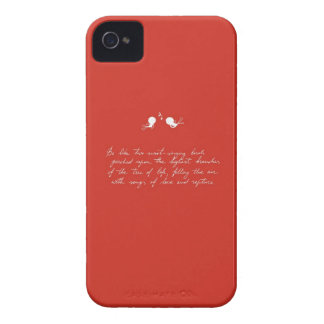 Be Like Two Sweet-Singing Birds [Red] iPhone 4 Case-Mate Cases