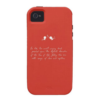 Be Like Two Sweet-Singing Birds [Red] iPhone 4/4S Case