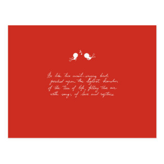 Be Like Two Sweet-Singing Birds [Red] Postcard