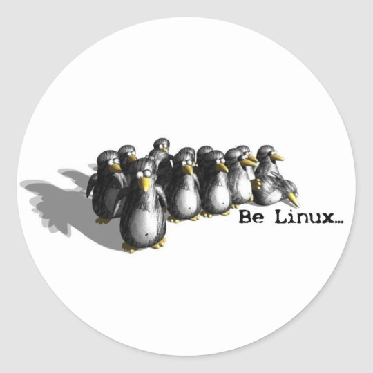 Be Linux Classic Round Sticker