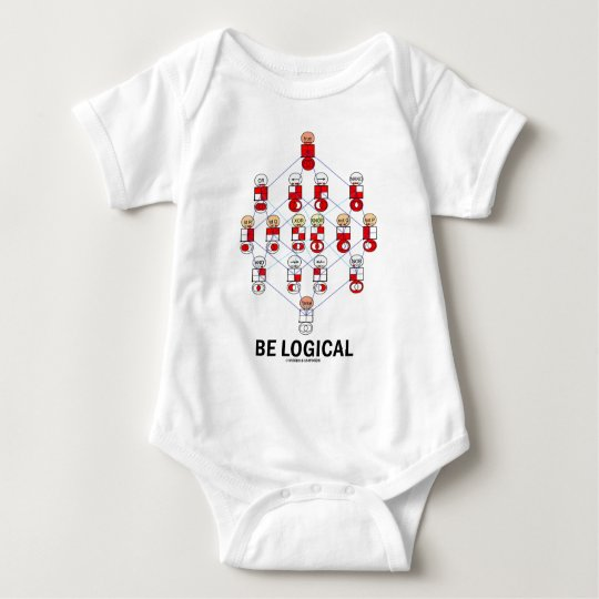 Be Logical (Logic Tesseract Hasse Diagram) Baby Bodysuit