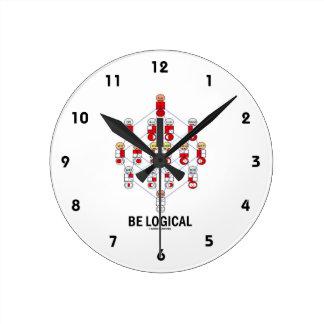 Be Logical (Logic Tesseract Hasse Diagram) Round Clock