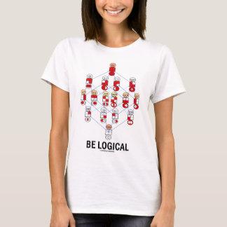 Be Logical (Logic Tesseract Hasse Diagram) T-Shirt