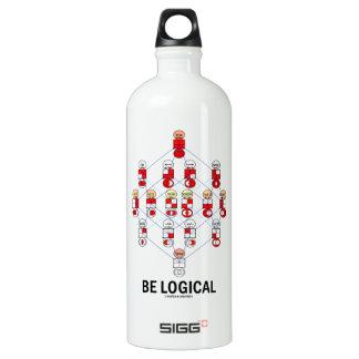 Be Logical (Logic Tesseract Hasse Diagram) Water Bottle