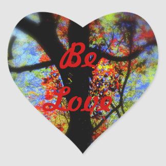Be Love Heart Stickers