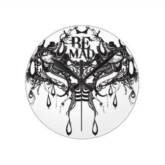 Be Mad Round Clock