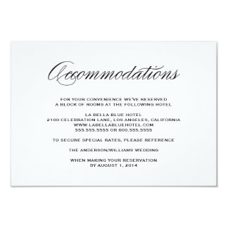 "Be Married | Accommodation Enclosure Card 3.5"" X 5"" Invitation Card"