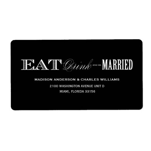& BE MARRIED | ADDRESS LABELS