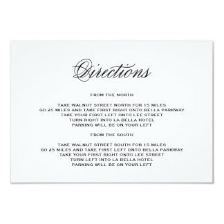 "Be Married | Direction Enclosure Card 3.5"" X 5"" Invitation Card"