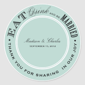 & BE MARRIED | FAVOR STICKERS