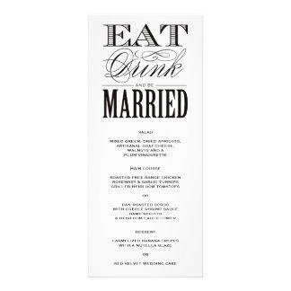 Be Married Menu Custom Invite